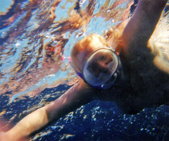 Sabira underwater