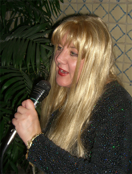 Sabira singing NY Eve 2009 at The Shores